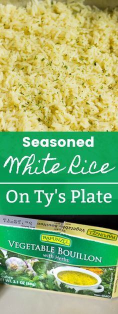 White Rice This super easy seasoned white rice side dish packs loads of flavor with pantry ingredients. You can make it on the stove top or microwave. via super easy seasoned white rice side dish packs loads of flavor with pantry ingredient Seasoned Rice Recipes, White Rice Recipes, Rice Recipes For Dinner, Easy Rice Recipes, Potato Recipes, Pasta Recipes, Soup Recipes, Recipies, Rice Side Dishes