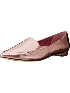 Nine West Women's Abay Patent Pointed Toe Flat, Pink, 6.5 M US ❤ Nine West