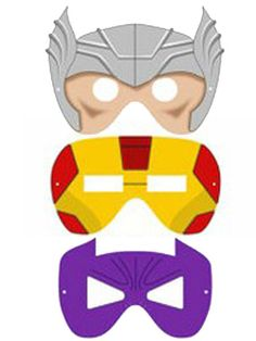 Masques de super héros (Pour décorer les ballons volants de son SUPER…