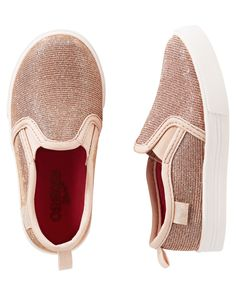 Toddler Girl OshKosh Sparkle Slip-On Shoes | OshKosh.com