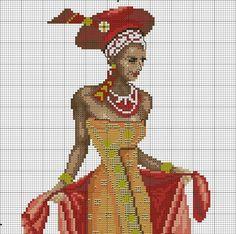 African LADY X-STITCH 1of 2