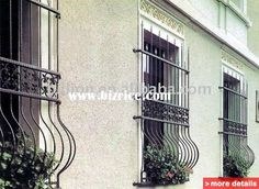 decoration wrought iron window grill iron window guard window grill / China Door & Window Grates for sale from Shijiazhuang Billion Industrial Co., Ltd. - Bizrice.com