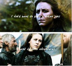 Asha Greyjoy, Game of Thrones. By plinys.