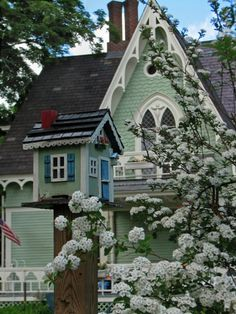 The Gingerbread House in Windsor Village with matching mailbox. Photo by Pam O'Brien