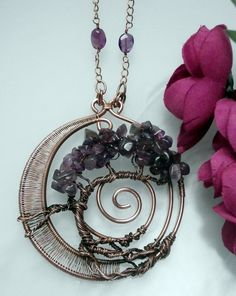 SOLD! Wire Wrapped Tree of Life Pendant Necklace by PerfectlyTwisted