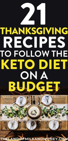 Try these 21 cheap keto Thanksgiving recipes to create a simple, delicious, low-carb dinner menu plan while sticking to a budget this fall holiday season. Budget Meal Planning, Cooking On A Budget, Frugal Meals, Budget Meals, Budget Recipes, Cheap Recipes, Cheap Meals, Easy Recipes, Dinner Menu
