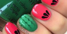 Just because spring is sluggishly arriving doesn't mean that our fashion trends should have to suffer! Watermelon Nail Art, Fun Diy, Spring Nails, Nail Polish, Fashion Trends, Color, Ongles, Fun Crafts To Do, Colour