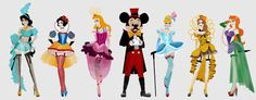 The lineup, if Disney princesses were burlesque dancers.... And Micky the ring master