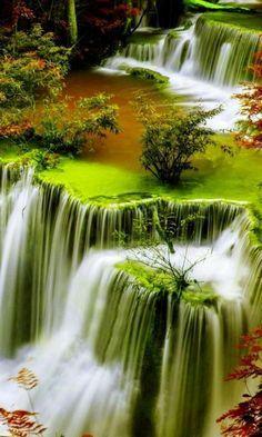 Waterfalls of Plitvice Lakes National Park in Croatia