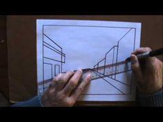 Dessiner La Perspective 1 Le Point De Fuite Leçon de dessin cour d'art de peinture