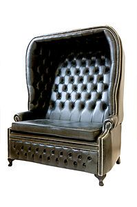 Leather Porters Chair - this is inspiring.. the right direction i think - just different color