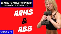 20 Min Cardio Strength ARMS and ABS Workout | Dumbbell and Full Body Workout - YouTube