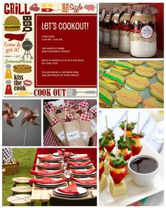My cookouts involve frozen burger patties and paper plates, but I aspire to one day doing something this fancy and fun!