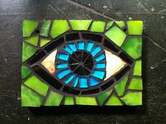 Eye stained glass mosaic by Anne Marie Price www.AnneMariePrice.com #mosaic #eye #AMP #AnneMariePrice
