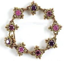 Bracelet with rhinestones | biser.info - all about beads and beaded works - 1