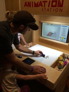 Stop-Motion Animation Stations allow you to make your own video like your favorite claymation movies!
