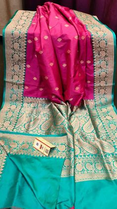 Silkmark certified pure benarosi silk over kanjipuram saree Kanjipuram Saree, Silk Saree Banarasi, Blue Silk Saree, Indian Silk Sarees, Soft Silk Sarees, Bollywood Saree, Georgette Sarees, Bollywood Fashion, Bridal Sarees South Indian
