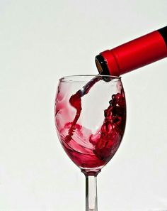 Un bicchiere di vino rosso...
