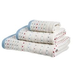 Carolyn Donnelly Eclectic Spot Bath Towel Hand Towels, Polka Dots, Stripes, Colours, Bath, Pure Products, Cotton, Design, Style