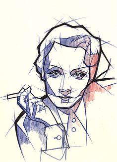 Ballpoint Pen Illustrations by Johannes Siemensmeyer