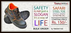 Carelessness may cost you your life, protect your feet by #Safety shoes. Starting @150/- Only. more visit:- www.tradusway.com