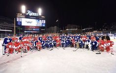 All the guys after the Wings alumni won the game. 12/31/13 Winter Classic