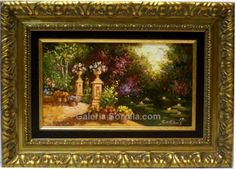 Salinas : Landscape. Medium: Oil on canvas Measurements (cm): 49x35 Canvas measurements (cm): 33x19 Interior frame: Yes. Impressionist painting, which shows us the qualities of this painter, his extensive colour palette and his good taste. A very decorative picture with an excellent quality-price.  $167.15