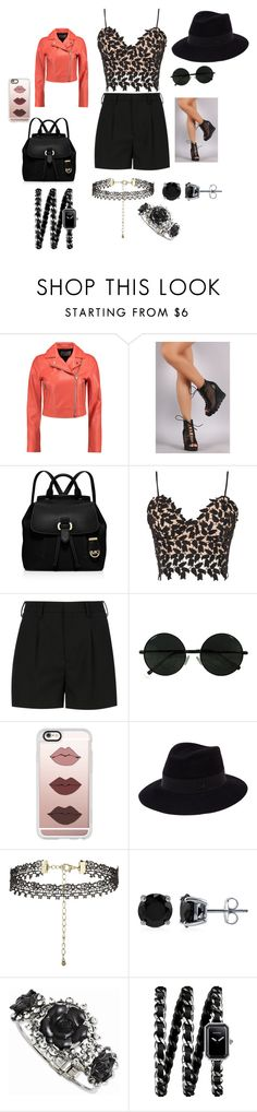"""""""Mood!"""" by sylvia-karimi on Polyvore featuring T By Alexander Wang, Liliana, MICHAEL Michael Kors, Bardot, Yves Saint Laurent, Casetify, Maison Michel, BERRICLE and Chanel"""