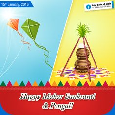 #SBI wishes all a very happy #MakarSankranti and #Pongal. May this harvest festival bring good fortune, happiness and progress in your life. #StateBankofIndia #StateBank #SBI #Festival #Celebrations #Pinoftheday
