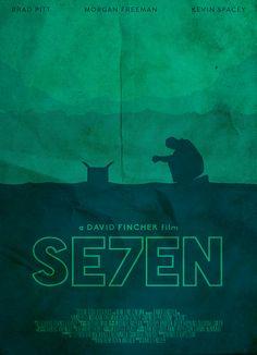 Posters Alternativos em Homenagem aos 20 anos do Filme Seven - Os 7 Crimes Capitais