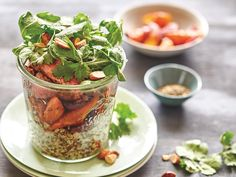 Combine tender spiced steak, zesty roasted carrots and fresh quinoa in this new take on an old favourite from Courtney Roulston's book 'Salads in a jar'.