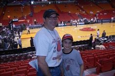 Me and Elnadav at the Heat Playoff game May 14, 2014