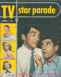 Dean Martin Jerry Lewis cover 1951 TV Star Parade magazine First Issue Vol 1 #1