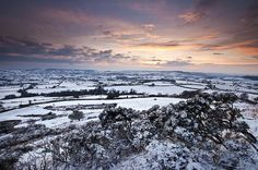 Sunset across the Marshwood Vale by Hive Beach Cafe, via Flickr