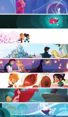 Disney Art, cute