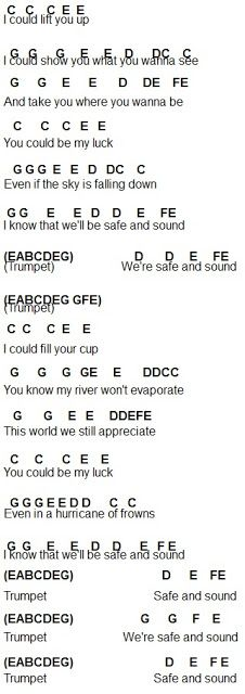 Flute Sheet Music: Safe and Sound