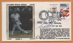 Frank White BLEM 1986 World Series Signed Gateway Stamp Envelope Postmarked #KansasCityRoyals