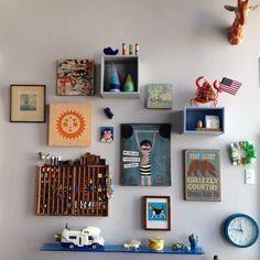 Our playroom gallery wall #dianasamper #playroom #children