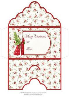 SANTA Christmas Money Wallet Gift Envelope on Craftsuprint designed by Janet Briggs - Christmas money wallet or gift voucher holder, featuring Nitwits Santa Claus.Sentiment tag on the front reads Merry Christmas and includes space for a To and From message. - Now available for download!