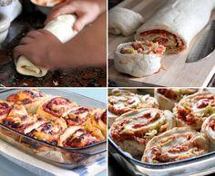 מתכון למאפה שבלולי פיצה