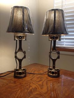 Lampes de piston par automotiveupcycle sur Etsy