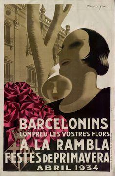 Festes de primavera. Dibuix Martinez Surroca Bcn. 1934
