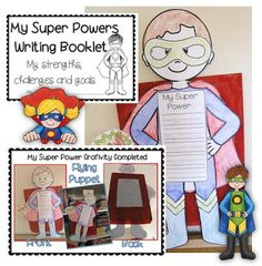 Super Powers Craftivity Learning Goals Clever Classroom blog image - TONS of great ideas (printables shown are for sale links to site on blog)