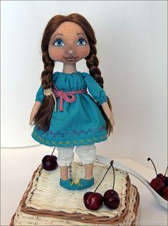 Купить Текстильная кукла Марта - кукла на заказ, текстильная кукла, кукла в подарок, ручная работа