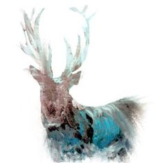 The Steel Rooms Blue Stag Card by Julie Steel