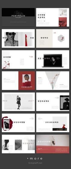 모던 오리엔탈 파워포인트 & 키노트 비즈니스 템플릿 Oriental Powerpoint & Keynote Presentation Template #oriental #business #marketing #branding