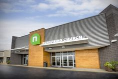 Main Entry of NewSpring Church Greenwood Campus - Greenwood, SC. (designed by a partner at Equip Studio while at a previous firm).