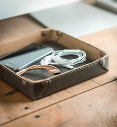The Saddleback Leather Valet Tray in Dark Coffee | 100 Year Warranty | $59.00