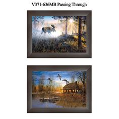 """Trendy Decor 4U """"Passing Through"""" Collection By Jim Hansen, Printed Wall Art, Ready To Hang Framed Poster, Frame"""