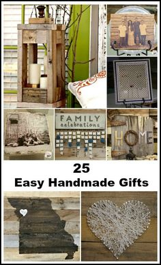 25 Handmade Gifts that are perfect for anything from Christmas Gifts to Birthdays! These easy DIY gift ideas are great gifts for your friends and family!
